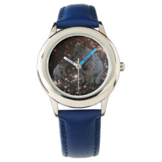 Quokka Chit Chat, Kids Blue Leather Watch