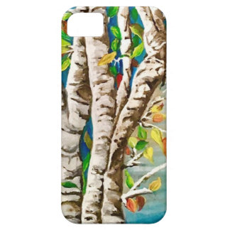 """Autumn Birches"". Acrylics and craft pai iPhone 5 Cover"