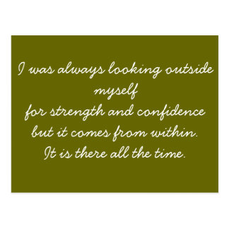 Quotable Postcard - self confidence