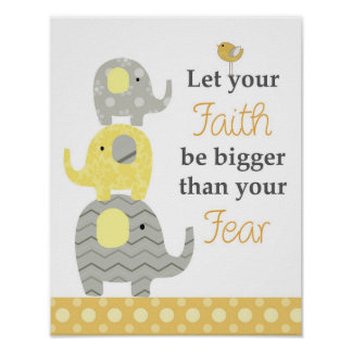 Quotation wall art for nursery and kids rooms poster