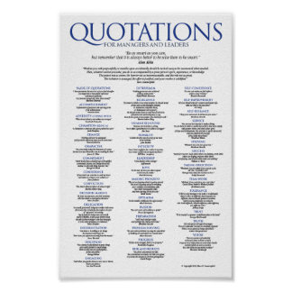 Quotations for Managers and Leaders Poster