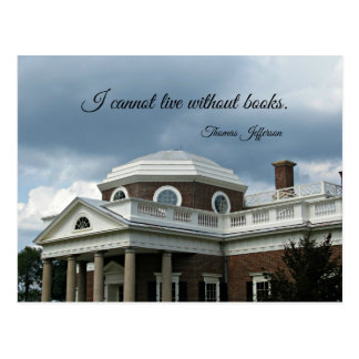 Quote about Books by Thomas Jefferson Postcard