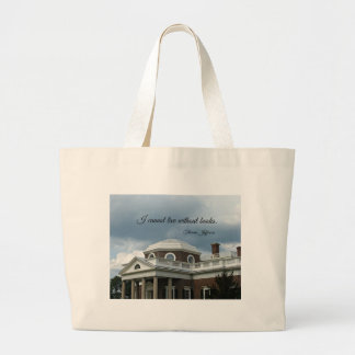Quote about Books by Thomas Jefferson Bags