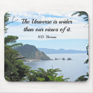 Quote about our views of the universe. mouse pad