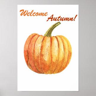 Quote autumn poster