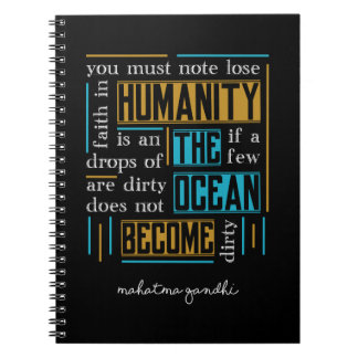 Quote by Mahatma Gandhi Notebook