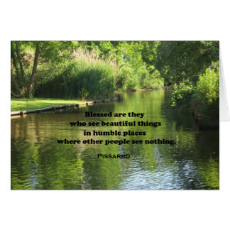 Quote by Pissarro: Blessed are they who see Card