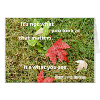 Quote byThoreau: It's not what you look at that Card
