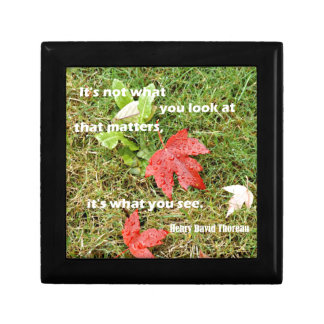 Quote byThoreau: It's not what you look at that Small Square Gift Box