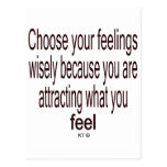 Quote for law of attraction postcards