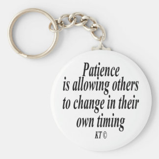 Quote for patience key ring