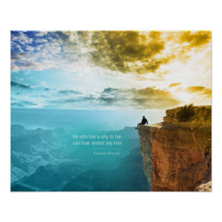 Quote Friedrich Nietzsche Nature Adventure Nature Poster