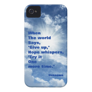Quote hope and faith blue sky design iPhone 4 cases