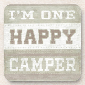 Quote | I'm One Happy Camper Coaster