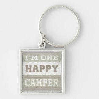 Quote | I'm One Happy Camper Key Ring