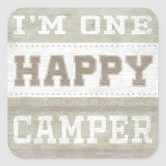 Quote | I'm One Happy Camper Square Sticker