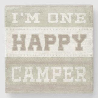 Quote | I'm One Happy Camper Stone Coaster