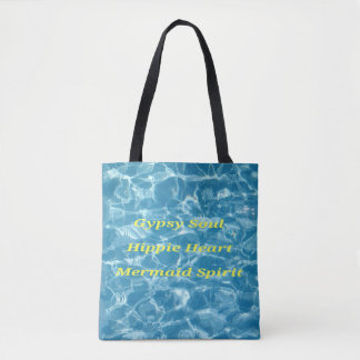 Quote Inspirational Positive Water Blue Tote Bag