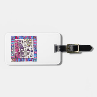 Quote on baggage tag. luggage tag
