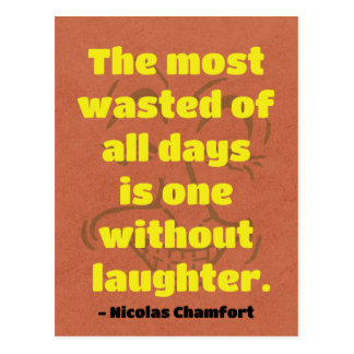 Quote on Laughter / Humor Postcard
