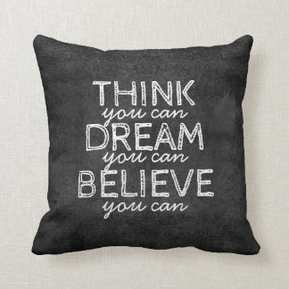 quote pillow inspirational typography on grey