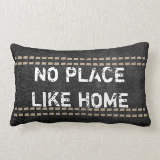 quote pillow rustic chic no place like home
