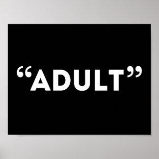 Quote Unquote Adult Sardonic Humor Poster