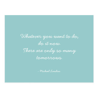 Quoteable Quotes - work, career, and dreams Postcard
