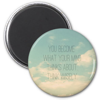 Quotes about the mind Sky and Clouds Vintage Magnets