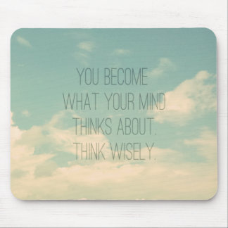 Quotes about the mind Sky and Clouds Vintage Mousepad