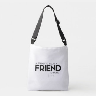 QUOTES: Aristotle: Friend to all Crossbody Bag