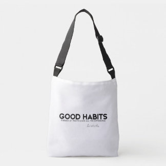 QUOTES: Aristotle: Good habits Crossbody Bag