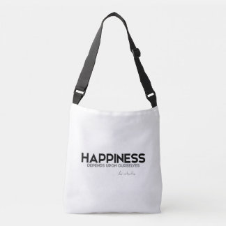 QUOTES: Aristotle: Happiness Crossbody Bag