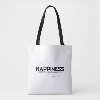 QUOTES: Aristotle: Happiness Tote Bag