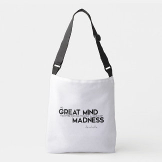 QUOTES: Aristotle: Touch of madness Crossbody Bag