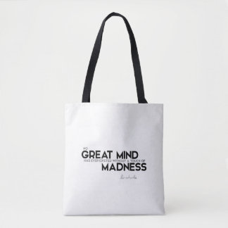 QUOTES: Aristotle: Touch of madness Tote Bag