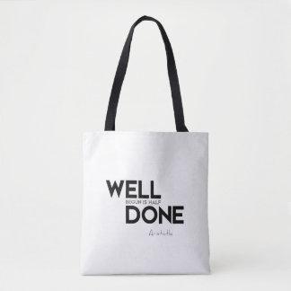 QUOTES: Aristotle: Well done Tote Bag