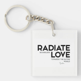 QUOTES: Buddha: Radiate boundless love Key Ring