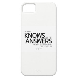 QUOTES: Confucius: All the answers iPhone 5 Case