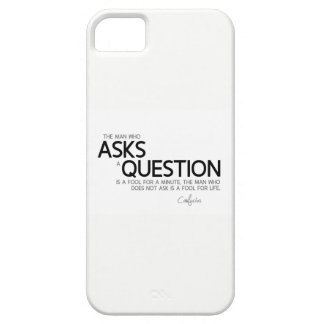 QUOTES: Confucius: Asks a question Barely There iPhone 5 Case