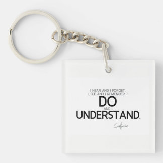 QUOTES: Confucius: Do and understand Key Ring