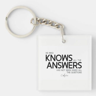 QUOTES: Confucius: Knows all the answers Key Ring