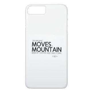 QUOTES: Confucius: Man moves a mountain iPhone 8 Plus/7 Plus Case