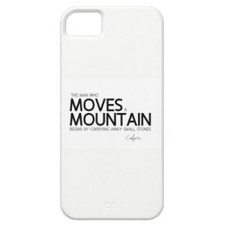 QUOTES: Confucius: Move a mountain, small stones iPhone 5 Cover