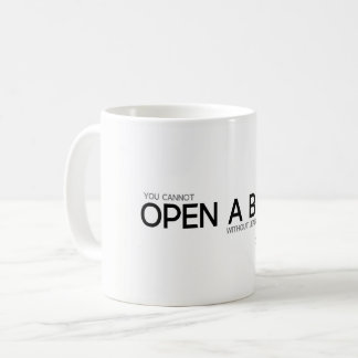 QUOTES: Confucius: Open a book Coffee Mug