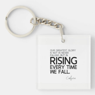 QUOTES: Confucius: Rising every time Key Ring