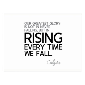 QUOTES: Confucius: Rising every time Postcard