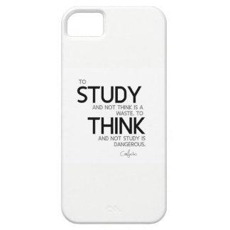 QUOTES: Confucius: Study, think iPhone 5 Cover