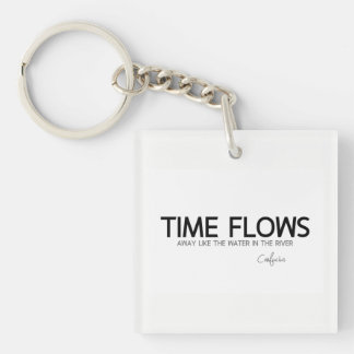 QUOTES: Confucius: Time flows away Key Ring