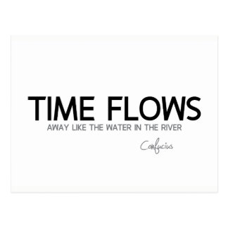 QUOTES: Confucius: Time flows away Postcard